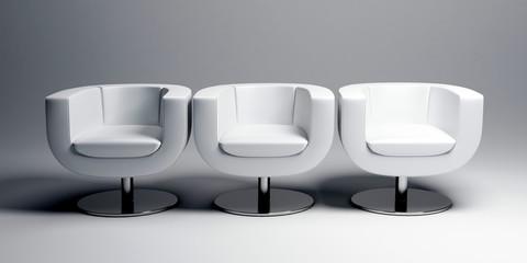 trio white seat