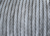 steel cable on a coil poster