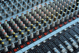 professional mixing console poster
