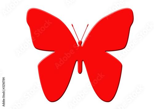 papillon rouge de unclesam photo libre de droits 3216784 sur. Black Bedroom Furniture Sets. Home Design Ideas