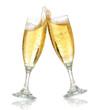 Leinwanddruck Bild - celebration toast with champagne