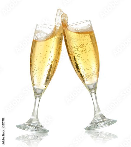 Poster Alcohol celebration toast with champagne