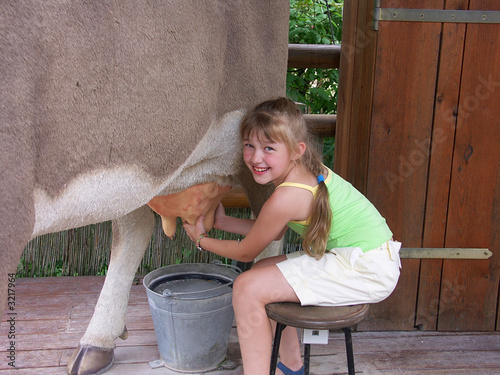 cow and girl 01
