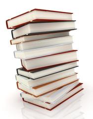 books on white