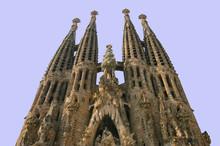 Sagrada Familia i Barcelona, Spanien.