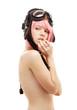 aviator helmet girl