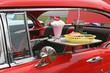 Quadro car hop food and antique car