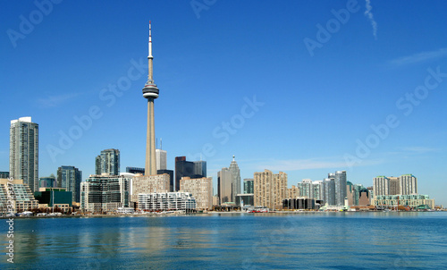 poster of toronto skyline, western view
