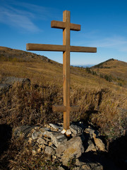 grave rood on the mountain