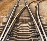 rail road track crotch rails disperse roads differ