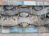 pilier décoré. poster