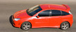 red sport hatchback car racing drive high speed - 3232500