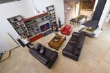 salon intérieur loft appartement de standing télé poster