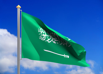 saudi arabia flag (include clipping path)