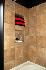 tiled luxury shower