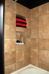 tiled luxury shower