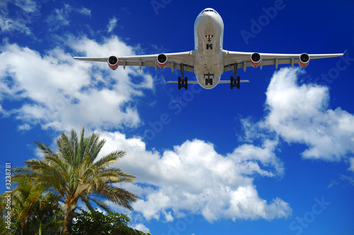 plane at exotic destination