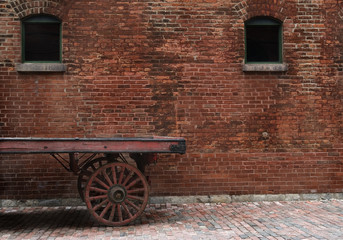 old cart at distillery district