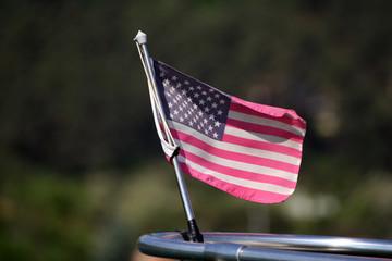 bandiera usa su prua nautica - usa flag