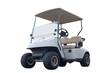 canvas print picture - golf cart