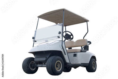 canvas print picture golf cart