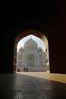 people arch in taj mahal