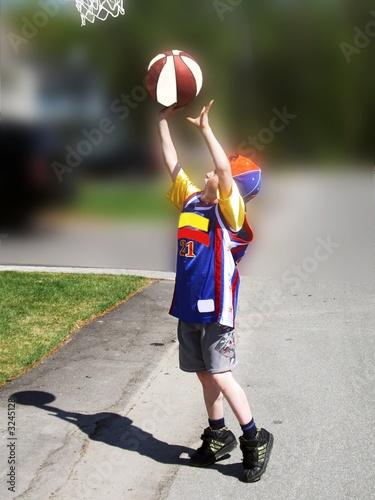 jouer au ballon panier