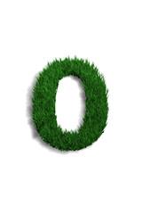 chiffre 0 pelouse