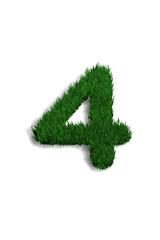 chiffre 4 pelouse