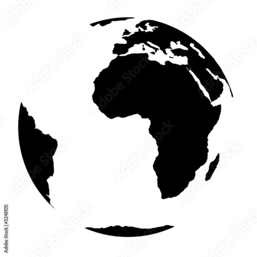 blackly white earth