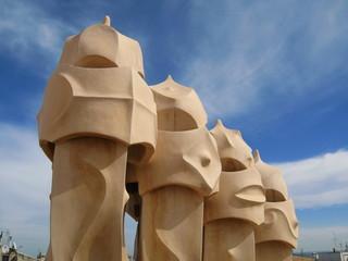 gaudi chimney pots, barcelona