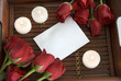 roses and note paper