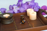 candles and aromatherapy oil poster