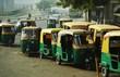 Leinwanddruck Bild - transport in new delhi