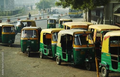 Leinwandbild Motiv transport in new delhi