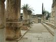 entrance of  synagogue. columns in line. shape