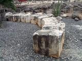 roman-byzantine ruins of black basalt  in israel poster
