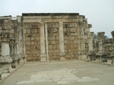 the great synagogue of capernaum in israel poster