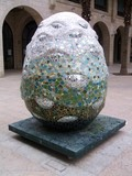 sculpture of an egg from mosaic poster