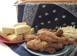 fried chicken and cornbread 2