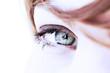 oeil regard de femme bleu vert sérénité beauté