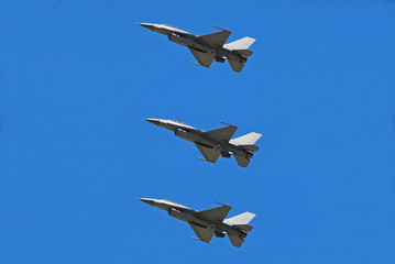 formation of jet fighters