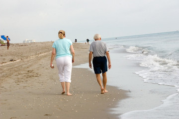 Senior Beach Walk