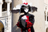 a man in costume at the venice carnival poster