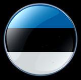 estonia flag button poster