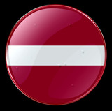 latvia flag button poster