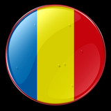 romania flag button poster