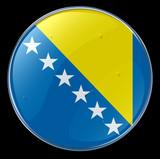 flag button bosnia and herzegovina poster