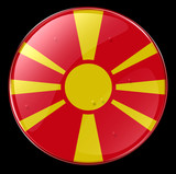 macedonia flag button poster