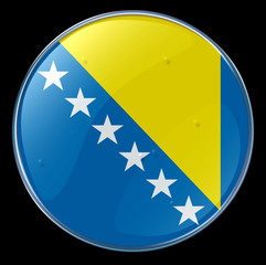 flag button bosnia and herzegovina